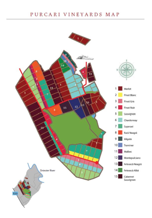 Purcari Vineyards Map
