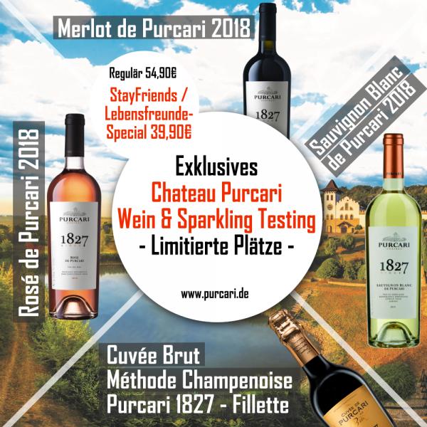 Stay Friends-Lebensfreude Special Rosé de Purcari, Merlot de Purcari, Sauvignon Blanc de Purcari, Cuvée Brut Méthode Champenoise